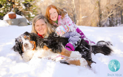 Snowy Family Session in Alexandria, Virginia