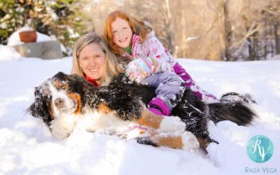 Snowy Family Session in Alexandria, Virginia